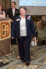 Past Division Director Liz Frisbie at District 84 2019 Annual Spring Conference Dignitary Walk. Photo Credit: William McCombie
