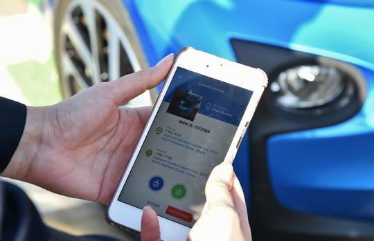 Miocar is accessible through a smartphone app for as little as $4 an hour.
