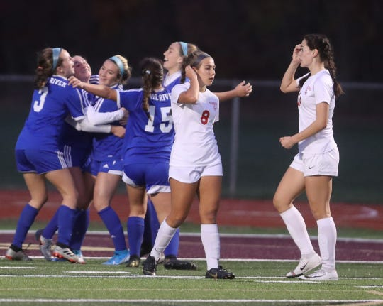 Pearl River defeated Somers 3-0 in the Section 1 Class A girls soccer championship against Somers at Arlington High School Nov. 3, 2019.