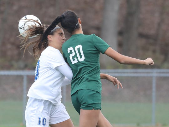 Pleasantville defeated Bronxville 3-0 in the Section 1 Class C girls soccer championship at Arlington High School Nov. 3, 2019.