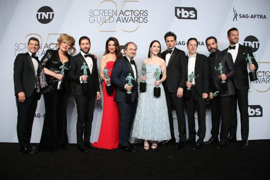 Brian Tarantina, third from the right, with the cast of