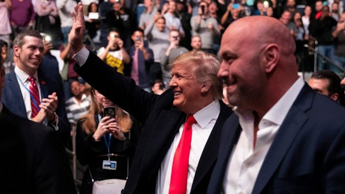 President Donald Trump got a mixed reaction from MMA fans at UFC 244 at New York's Madison Square Garden.