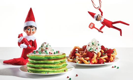 IHOP has a new limited-time Elf on the Shelf menu with items including Jolly Cakes, Oh What Funnel Cakes and more.