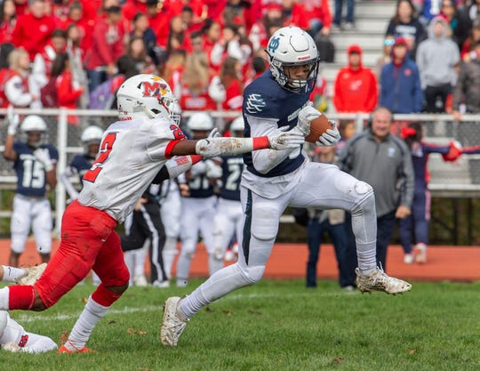 Mater Dei Prep's Clarence Lewis is one of the candidates you can vote for in the Asbury Park Press Shore Conference Player of the Week Poll.