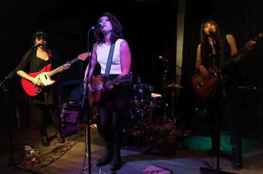 Puss N Boots featuring Norah Jones, from left, Sasha Dobson and Catherine Popper perform at The Bowery Electric on Oct. 11, 2013 in New York City.