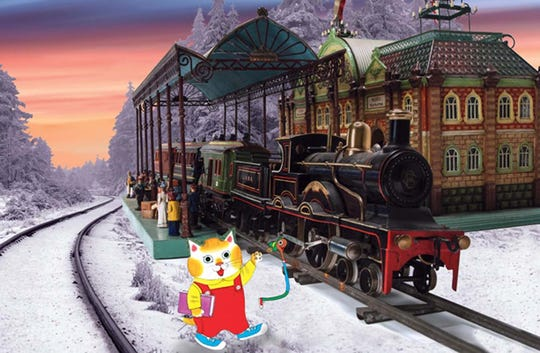 "For the 2019-20 season, the New York Historical Society's ""Holiday Express"" toy train display features characters from Richard Scarry's ""Busytown."""