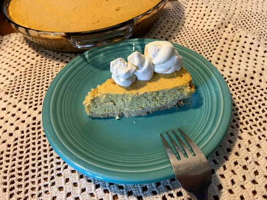 Pumpkin Cheesecake Pie with Low-Carb Crust