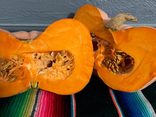 Decorative pumpkins usually have much thicker walls, making them ideal to roast to make puree for baking and soups.