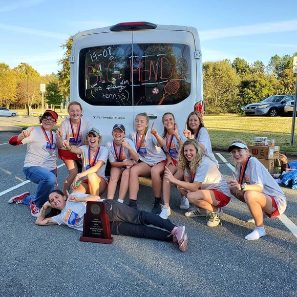 Hendersonville's girls tennis team are 2A state champions .