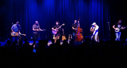 Keller Williams (third from left) performs with the Hillbenders.