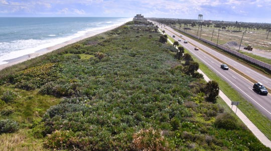 The Hightower Beach Park oceanfront nature preserve extends along State Road A1A in Satellite Beach.