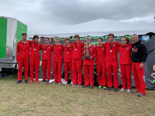 Satellite High's boys cross country team won the Region 2-2A championship.