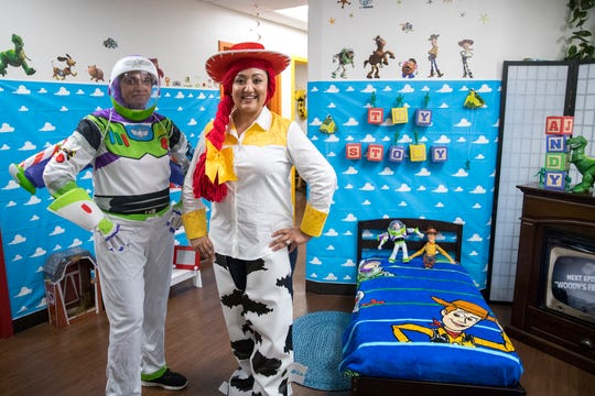 Dr. Punitha Jayaramaraju, left, and Dr. Sabeen Rani, at Rani's Pediatrics dressed as characters from Toy Story and decorated the office for Halloween. The pediatric office won Best Children's Health Clinic in the 2019 Caller-Times Best of the Best contest.