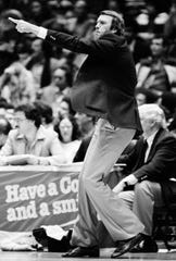 Philadelphia 76ers' coach Billy Cunningham ran the team for eight seasons from 1977 to 1985.