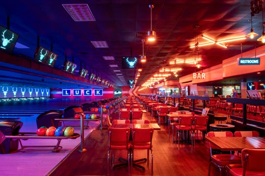 Retro decor and stylish lighting are hallmarks of Bowlero, the bowling entertainment center that transformed the former Brunswick Zone in Turnersville.