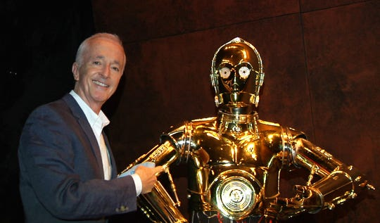 "Anthony Daniels has played C-3PO in all nine ""Star Wars"" movies, including ""The Rise of Skywalker."""