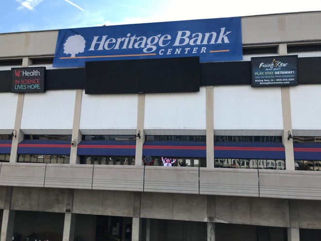 U.S. Bank Arena is now Heritage Bank Center.