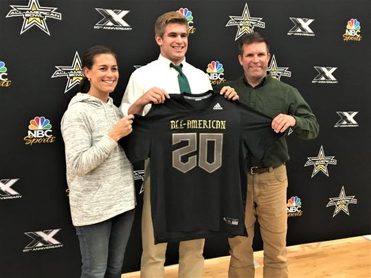 Michael Mayer with his parents, November 4, 2019