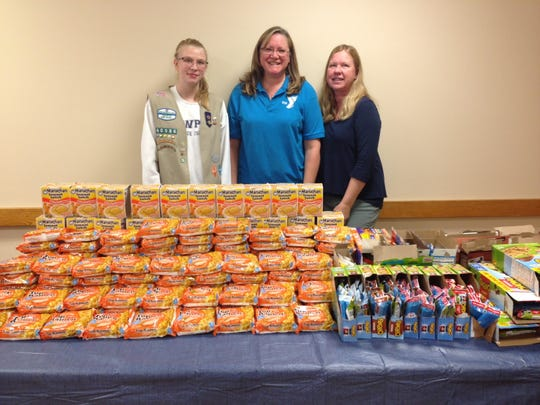 Somerset Hills YMCA, a branch of Somerset County and Plainfield YMCA, in collaboration with Girl Scout Troops #60986 and #63423 and the Food Bank Network of Somerset County, hosted a community-service event for children whose families struggle to afford food on Oct. 25.