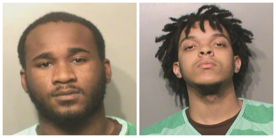 Devon Laron Williams, 20, (left) and Kaytjuan Tyrez Gibbs, 19, shown in their Polk County Jail mugshots.