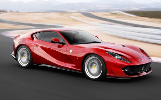 Ferrari's third quarter sales were lifted by sales of the Ferrari Portofino and the 812 Superfast, shown.