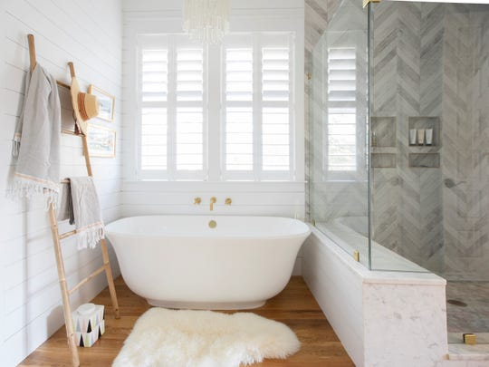 Bigger showers and freestanding tubs are two growing trends when it comes to bathroom remodels, according to the 2019 U.S. Houzz Bathroom Trends Study.