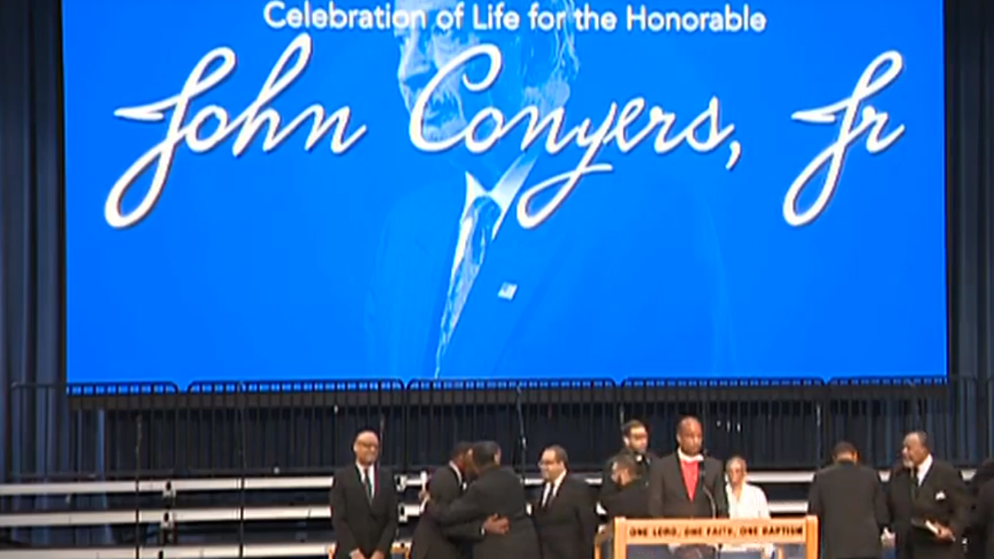 John Conyers a 'warrior, Bing says, as mourners gather