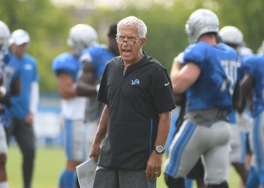 Lions defensive coordinator Paul Pasqualoni has seen his unit give up 180 points combined the past six games.