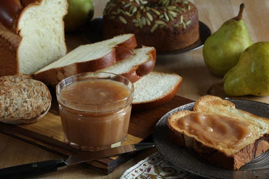 For pear butter, you'll want a variety that breaks down in cooking. Bartlett pears will do well.