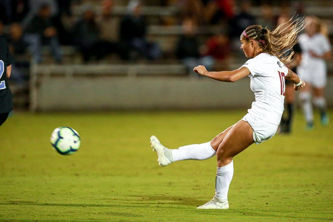 Deyna Castellanos has scored 11 goals throughout her final season at FSU.