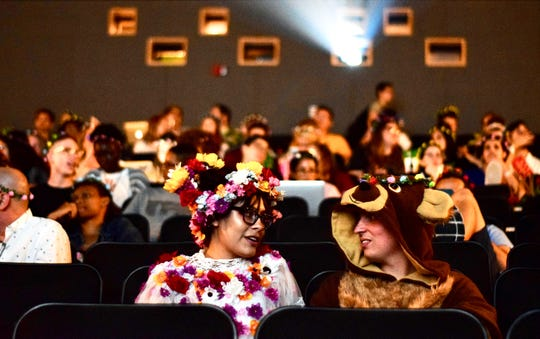 "Audiences got in full ""Midsommar"" gear for the screening."