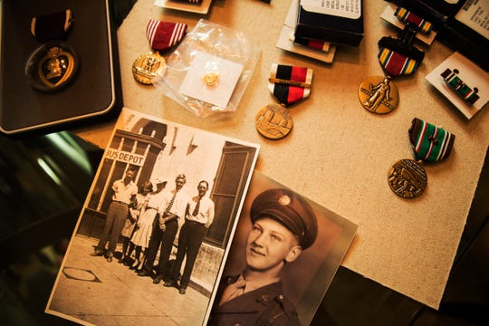 Bonita Springs resident, Mark Giersch's father, Leo fought in WWII. He died at 51 in the late 1970's after having a family including his son, Mark. He left behind writings and memorabilia that described some of the horrors he went through during the war. Mark says the letters offered insight to the personalilty of his father.