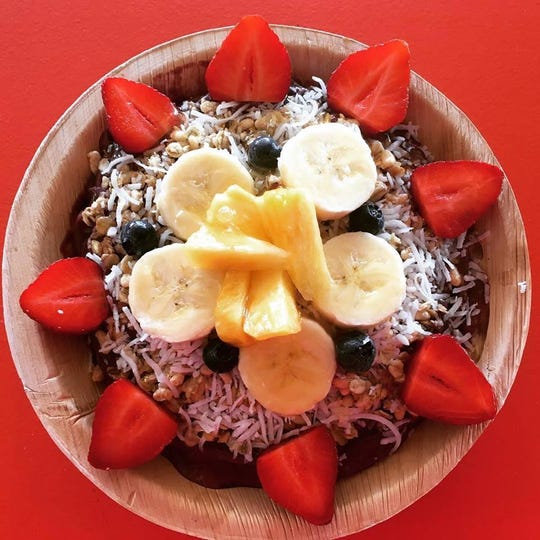 An acai bowl from Fresh Connection on Fort Myers Beach.