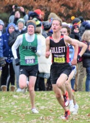 Alex Peterson of Gillett runs in the state cross country meet at the Ridges Golf Course in Wisconsin Rapids on Saturday, Nov. 2.