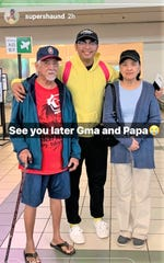 Shaun Duenas takes to Instagram to say goodbye to relatives and Guam as he returns to Houston.