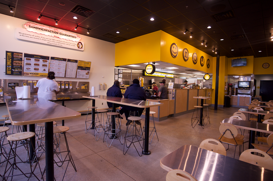 Inside view of remodeled Which Wich? Superior Sandwiches, located at 145 Market Street in Flowood.