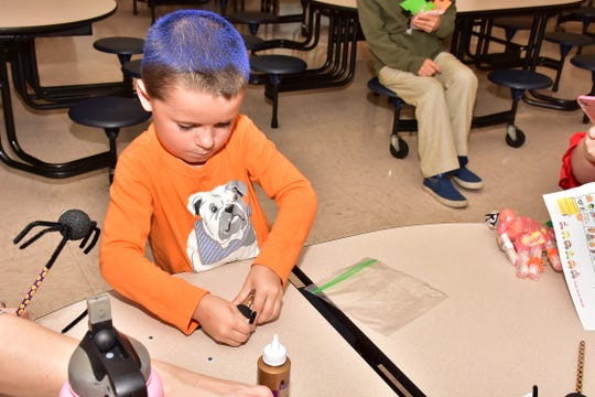 The West Haven fall festival featured a variety of craft projects for children to create.