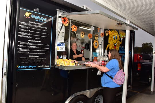 A food truck is set up to serve guests at the West Haven Elementary fall festival on Oct. 25. PTA president Diane Lange has also organized food trucks at the school for teachers to enjoy during lunch period.