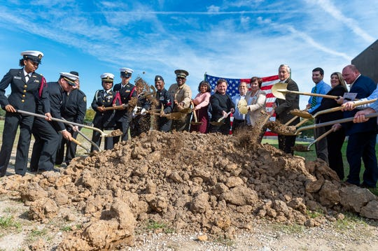 Ovey Comeaux High School NJROTC Magnet Academy groundbreaking ceremony.  Monday, Nov. 4, 2019.