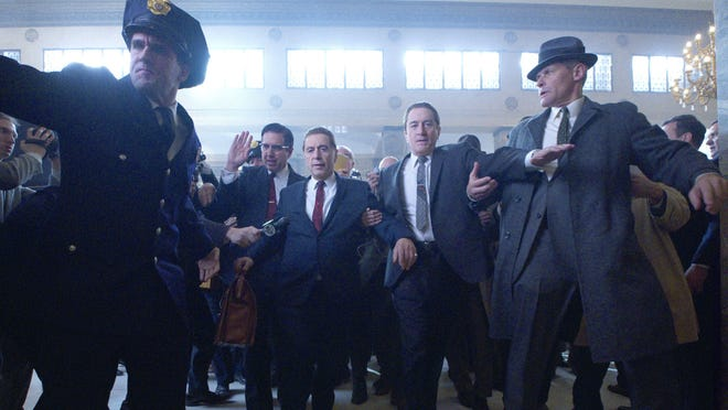 """Ray Romano, Al Pacino (Jimmy Hoffa) and Robert De Niro are among the stars of """"The Irishman,"""" which will screen one night only at the Paradiso."""