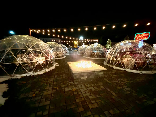 "Zisters restaurant in Elm Grove will open its ""igloos"" on the patio Nov. 15. The heated domes can be rented for 90 minutes and come with drink and optional food packages."