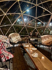 The domes at Zisters restaurant in Elm Grove will be outfitted with throws. The igloos are heated, but customers still are advised to dress for winter.