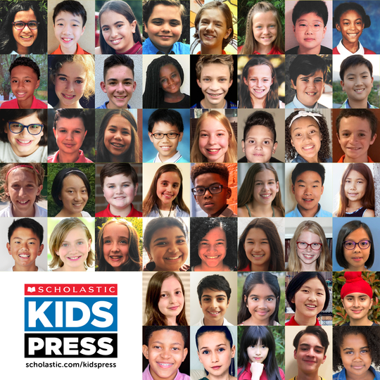 Fifty students throughout the world were chosen to be kid reporters for Scholastic Kids Press' 20th anniversary.