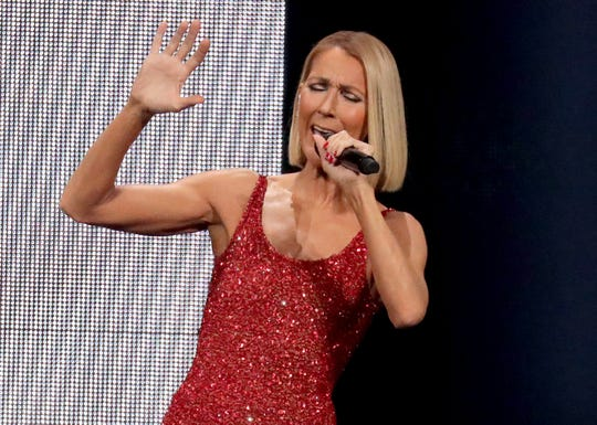 Celine Dion performs at Milwaukee's Fiserv Forum on Nov. 3, 2019.