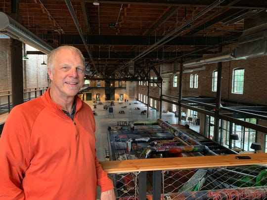 Chris Quandt stands inside Madison's Garver Feed Mill, which he oversaw the restoration of for Bachmann Construction.