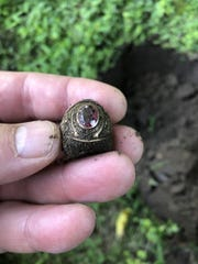 Lost class ring found in the dirt in Dover after 40 years.
