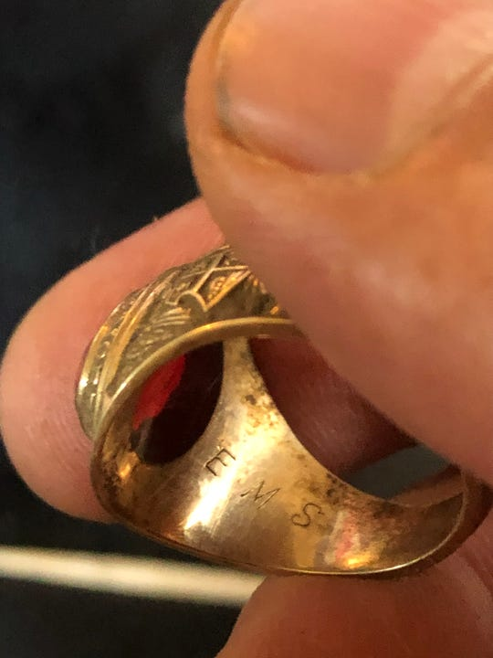 Man finds lost class ring after 40 years at Hurd Park, Dover.