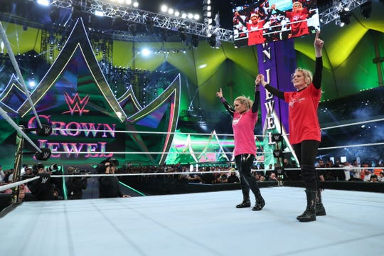 History took place Thursday with Natayla defeating Lacey Evans in the first pro wrestling women's match to take place in Saudi Arabia.