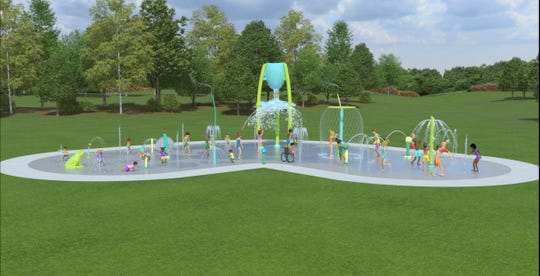 Splash pad rendering for the the Dickson County Family YMCA.