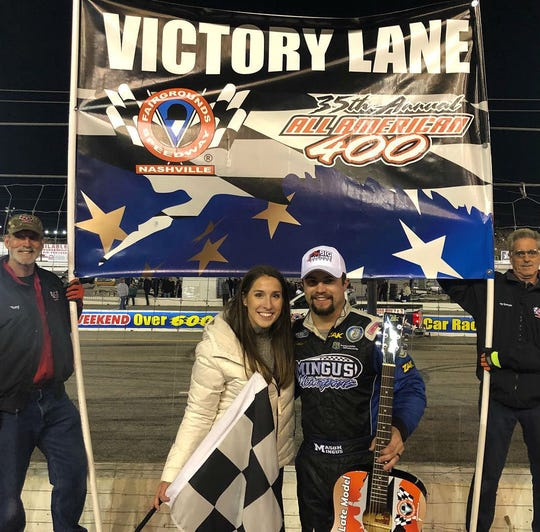 Mason Mingus came from 18th place to claim the 35th annual All American 400 Sunday night at Fairgrounds Speedway Nashville.